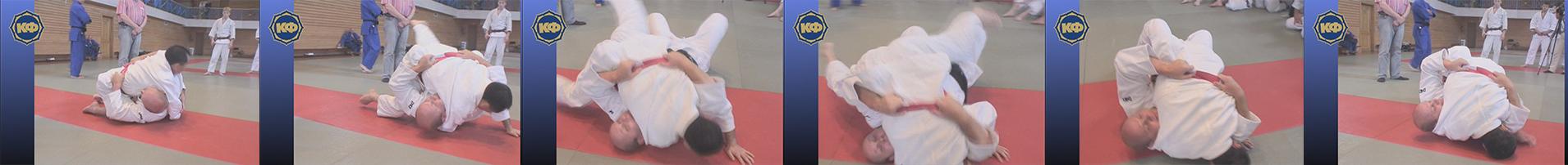 Yoko-shiho-gatame (удержание поперёк). Дзюдо плакат 3. Жёлтый пояс 5 КЮ.