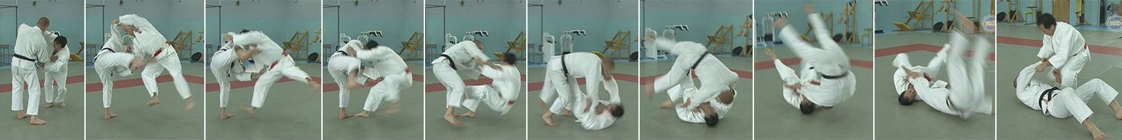Бросок через голову (tomoe-nage). Первый вариант Кашивазаки.
