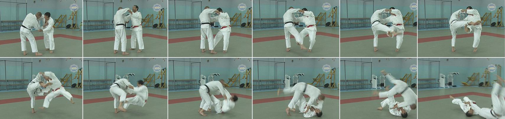 Бросок через голову (tomoe-nage). Выполняет Катсухико Кашивазаки.