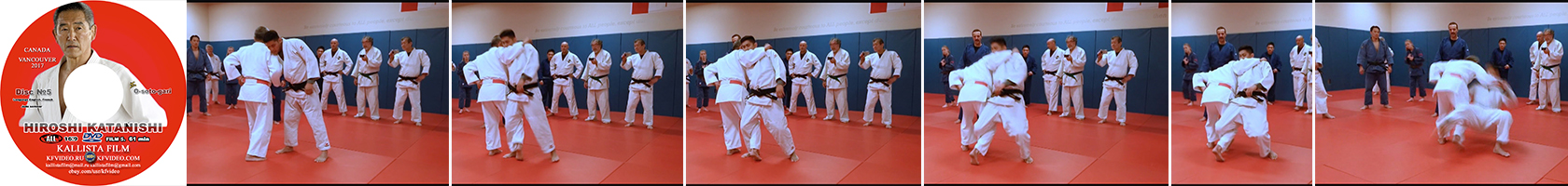 Disk 5 – the technique of o-soto-gari tricks. 61 min.