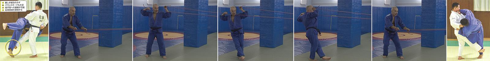 Упражнения с резиновым эспандером. Бросок передняя подсечка- Sasae-tsurikomi-ashi.
